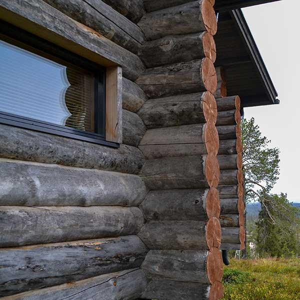 Log chalet from outside | Kelokoto paritalot, Ruka